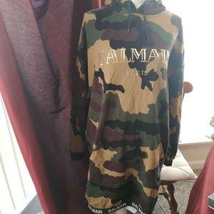 balmain dress hoodie M camouflage casual woman